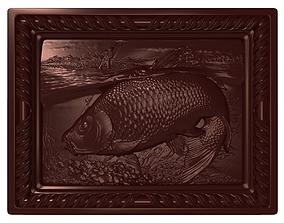 Carp Fishing Bas relief 3D print model