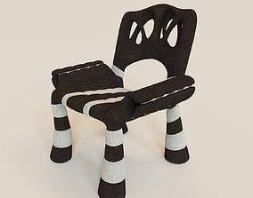 Stylish mad chair 3D