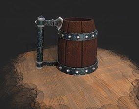 3D asset Medieval Axe Tankard 4K