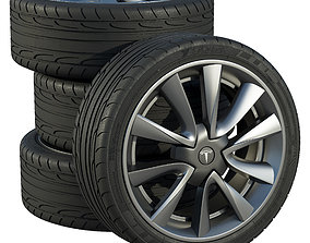 Tesla wheels 3D