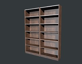 Wooden Bookshelf Low Poly PBR Game Ready Asset 3D model