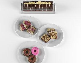 Coffe Cake Decoration 3D asset