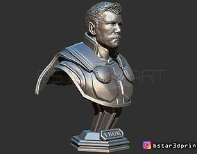 Thor Bust Short Hair - Avenger 4 bust 3D printable model 2