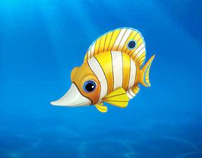 3D Cartoon Fish13 Rigged Animated