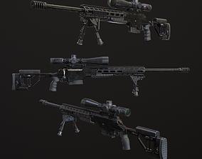 ORSIS-F17 Multicalibre rifle 3D asset