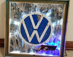 3D print model Volkswagen R Line Sign - Garage Art