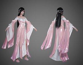 3D model Ancient Chinese lolita pretty girl 3