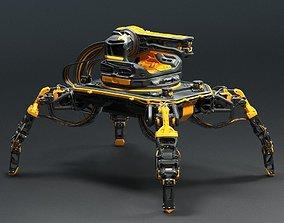 Sci-fi Turret robot 3D