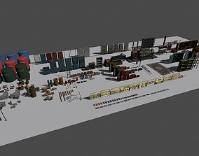 3D model Industrial Undeground Props Pack