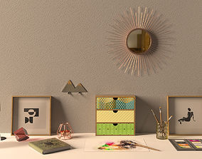 3D model realtime Decorative Set