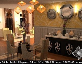3D printable model Exotic Dining Room