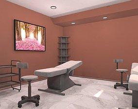 Massage room - interior and props 3D model