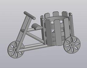 Flowerpot Bicycle 3D print model