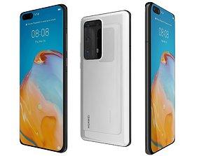 Huawei P40 Pro Plus White 3D