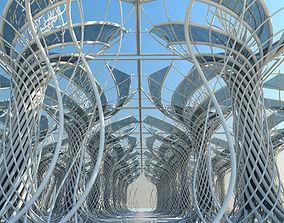 Futuristic Architectural Interior 3D