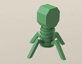 3D printable model Virus Enterobacteria phage T4