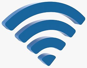 3D asset Wifi Symbol