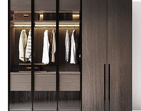 wardrobe Poliform 3D model shelf