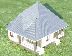3D asset VR / AR ready roof House