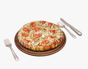 3D model low-poly meal Pizza