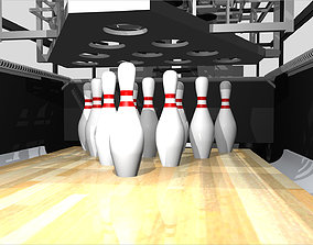 Bowling Pinsetter - GSX Style - Cinema 4D Format 3D model