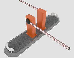 3D model realtime Road barrier