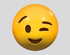 3D Emoji Winking Face