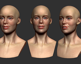 Female head 3d print girl