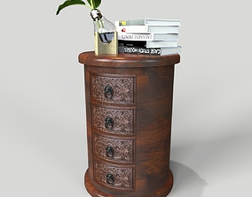 Jaipur Drawer Round Chest 3D model