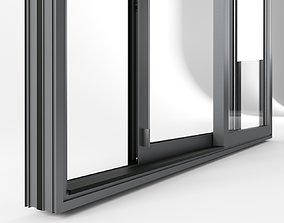Door glass with drain 3D model