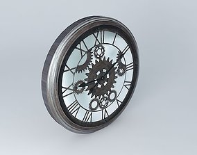 3D model Clock back time