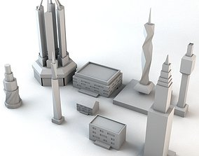 3D model Lowpoly Minimalistic Buildings Pack