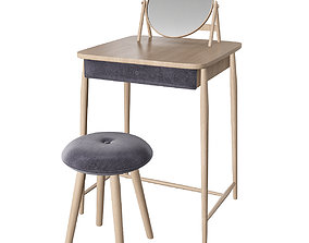 Toilet table 3d model realtime