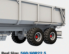 Trailer Wheel 560 60R22-5 3D asset