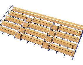 Stadium Seating Tribune Wooden pack 3D