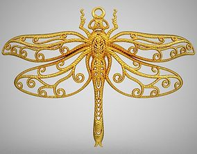 ladybug Dragonfly Necklace 3D printable model