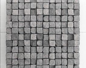 Stone panel cube brick 3D model