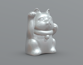 Maneki-Neko Cat Ready For 3d Printing
