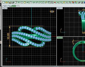 ornate 3D printable model Diamond Ring
