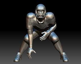 3D print model american American footballer Pose
