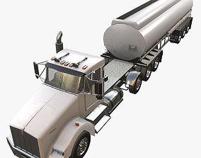 Kenworth T800 Tank Trailer 3D model