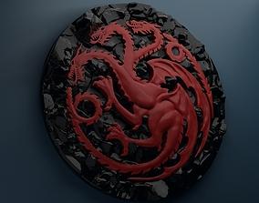 Targaryen Sigil 3D print model