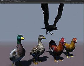 Birds Pack 3D model realtime