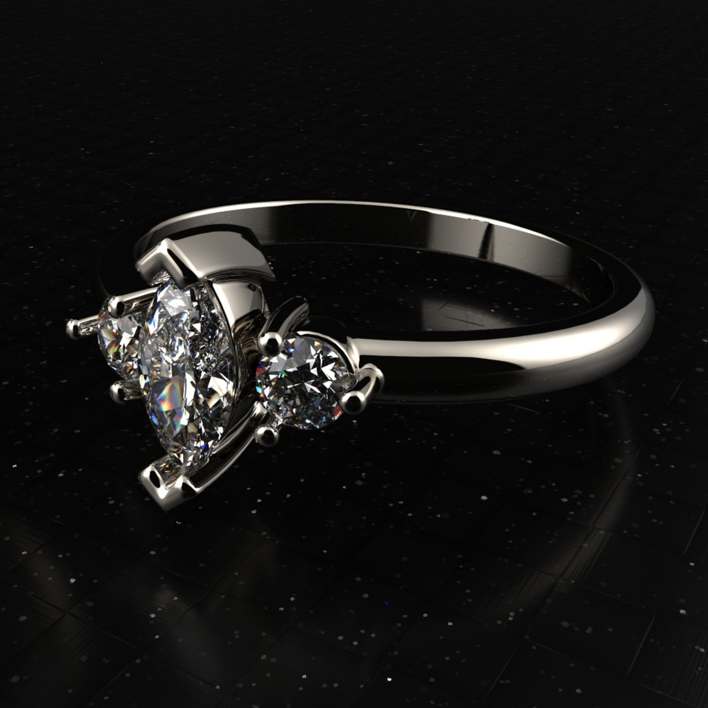 Engagement diamond ring ready for print