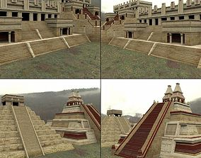 Mayan City Buildings Set for DAZ Studio 3D model