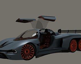mclaren Mustanger 6WD Rigged 3D