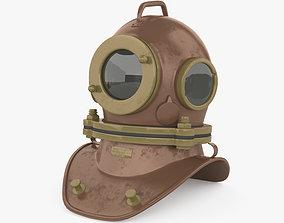 Three bolt diving helmet 3D model