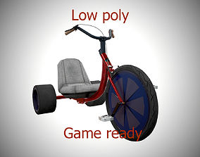 3D model game-ready Tricycle