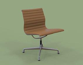 3D model Vitra Aluminium Chair 105 Elmotique Light Yellow