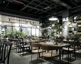 Industrial Resturant Modern design 3D model
